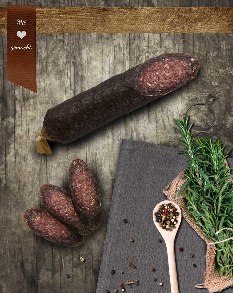 Rindersalami aus 100% Bio-Rindfleisch