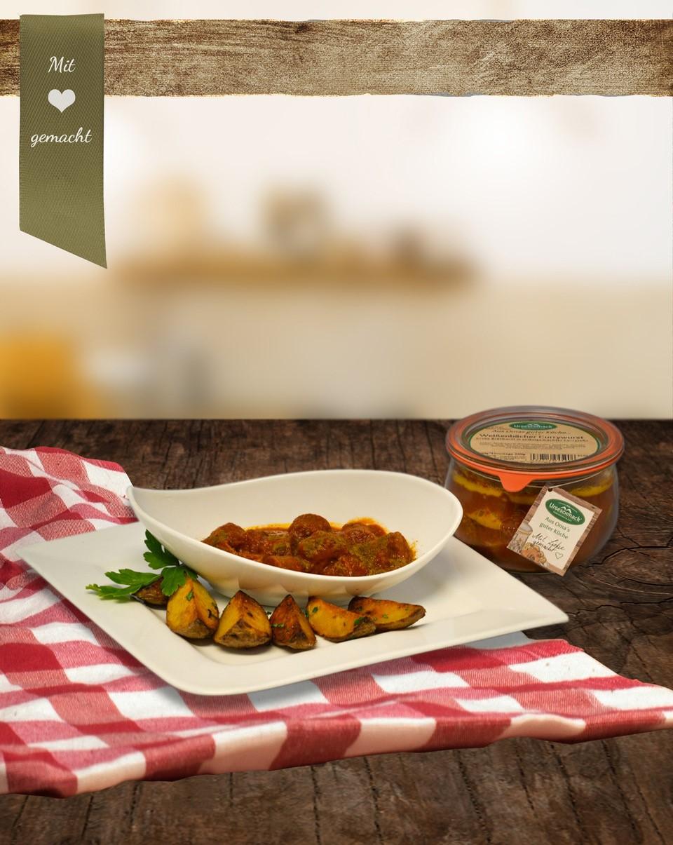 Rinder-Currywurst