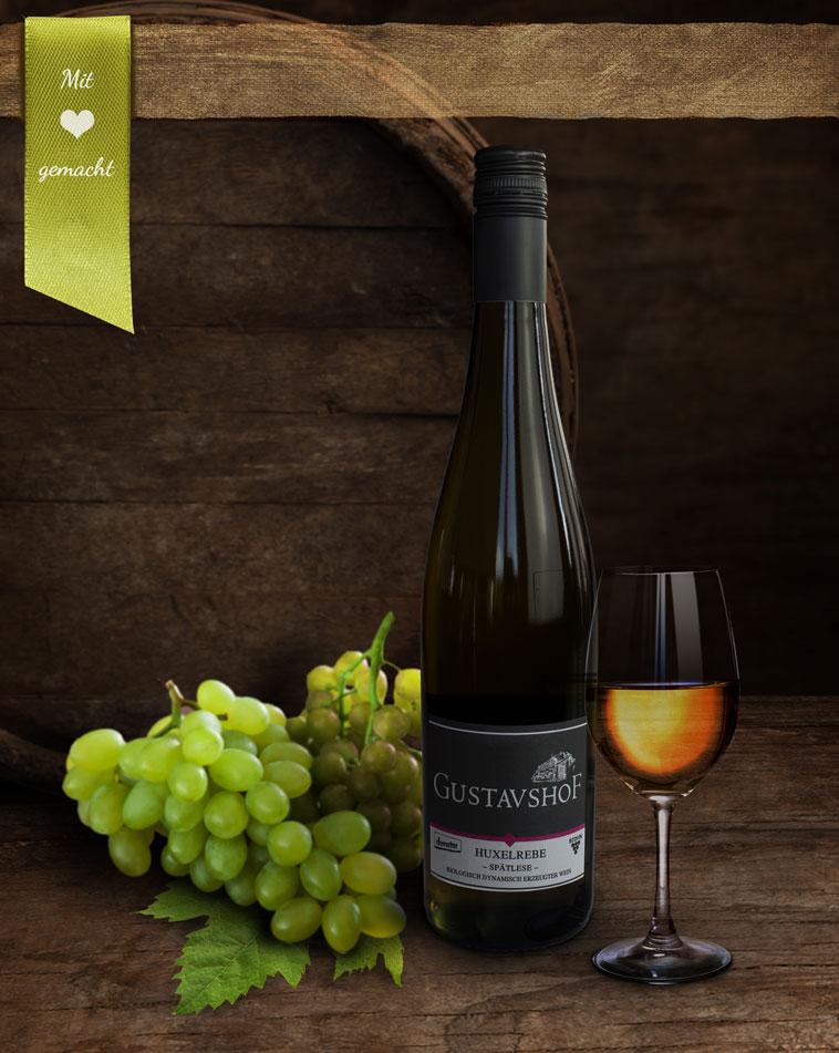 Bio-Weißwein - Huxelrebe Spätlese