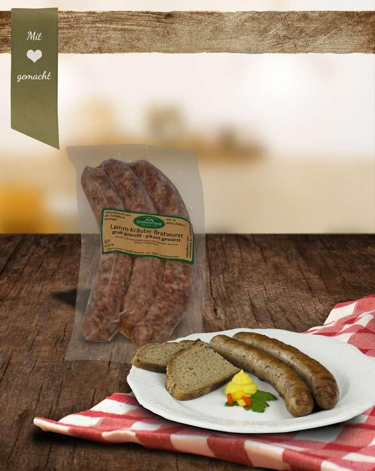 Lamm-Kräuter-Bratwurst * 3er Pack