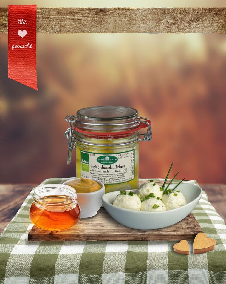Frischkäsebällchen *Honig-Senf